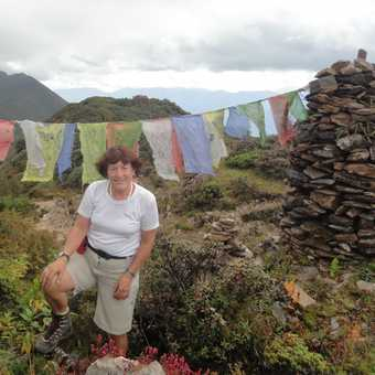 BY SOME PRAYER FLAGS ALONG THE TRAIL