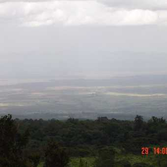 Kenya in the background