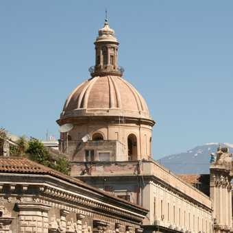 Etna looms behind Catania