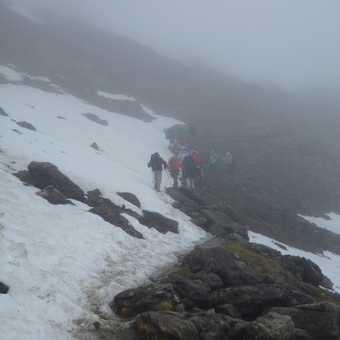 no view today (climbing Col de la Croix du Bonhomme)