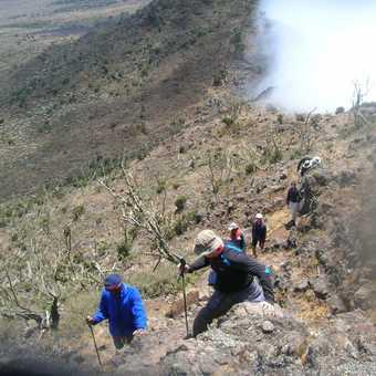Scrambling up Cathedraw peak 3750m Day 3
