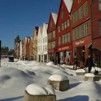 Bergen in heavy snow