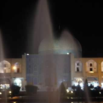 Watering the Mosque . . . Esfahan.