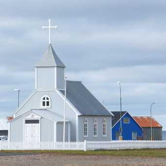 Church, Bakkagerði.