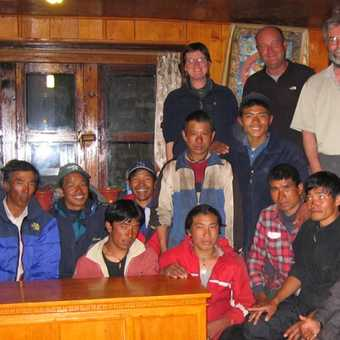 Partying with porters at Lukla