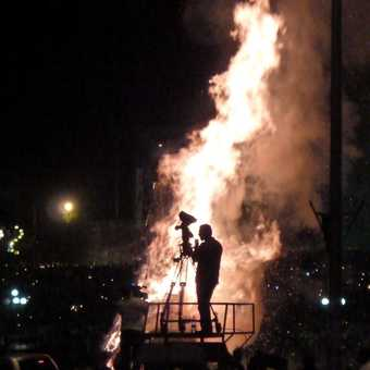 Filming the Meskel bonfire