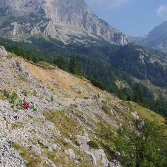 Crossing rock fall