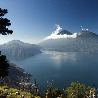 Lake Atitlan and its guardian volcanoes...