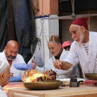 tanjia stalls, marrakesh
