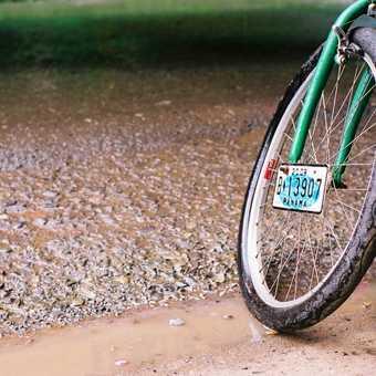 Bike at the Costa Rica/Panama border