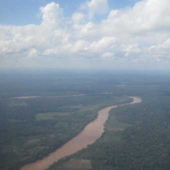 Flying into the Amazon Rainforest