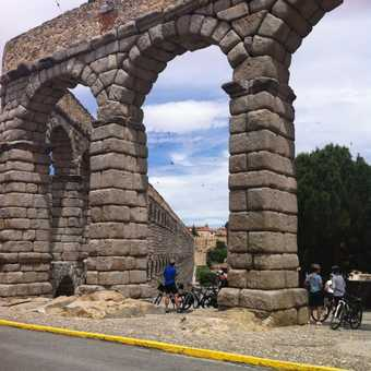 Arriving at the Sepulveda Aquaduct