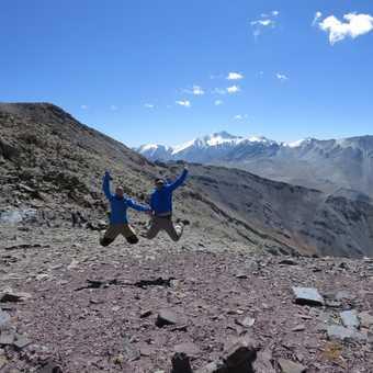 heading up Palam Peak