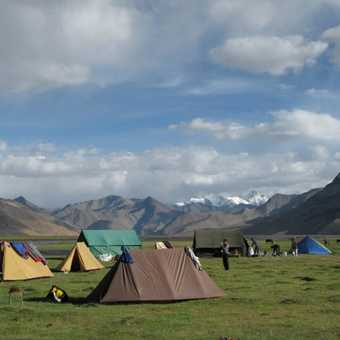 Campsite at Kyangdam at the southern end of Tso Moriri.