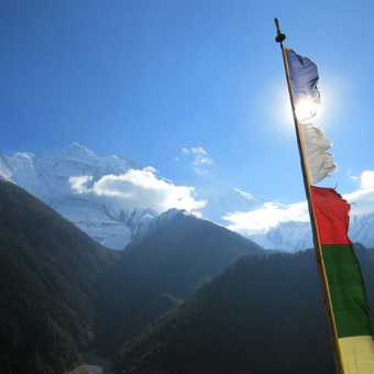 The view from Pisang Monastery