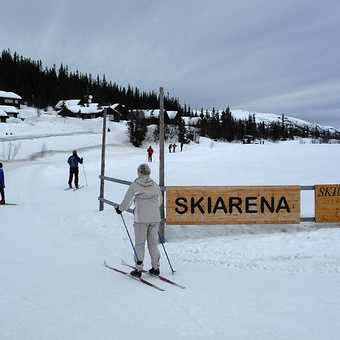 Skier with wind power