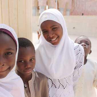 Locals in Touba Mosque, Senegal