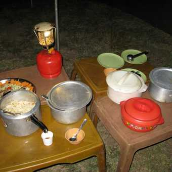 The Buffet at the camp site