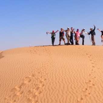 Group on a dune