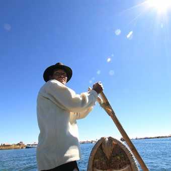 Uros boatman