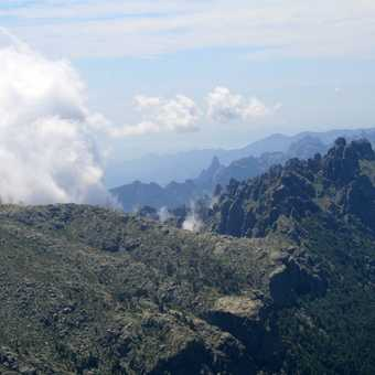 Preparing for the ascent of the Aguilles de Bavella
