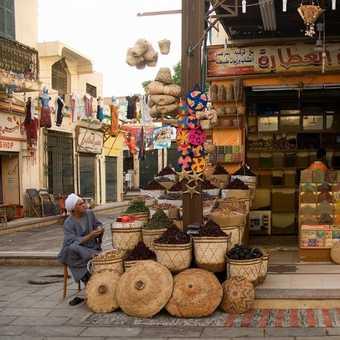 In the market, Aswan