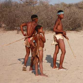 Khoisan boys - Kalahari