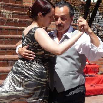 Tango dancers, San Telmo