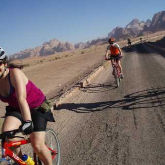 Cycling into Wadi Rum