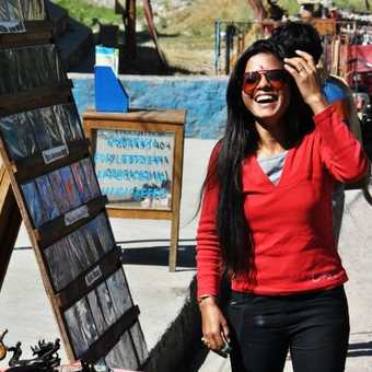Happy street seller