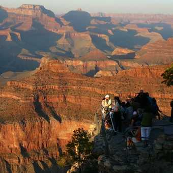 Start of sunset over Grand Canyon