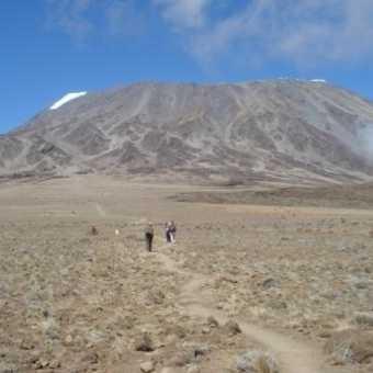 Mt Kibo looking across The Saddle