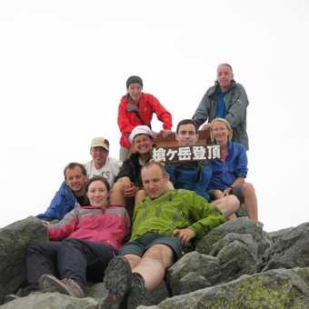 Made it - summit of Mt Yari