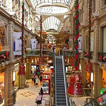 Inside shopping mall
