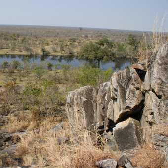 view over Savuti Marsh