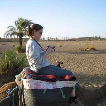 Me on a camel in the Sahara