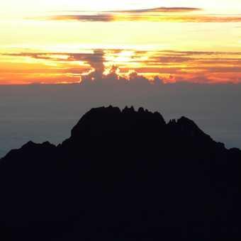 sunrise on summit climb