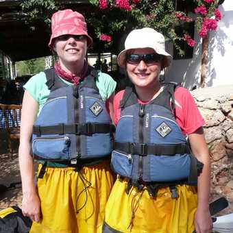 Getting ready for Kayaking - yes you look daft!