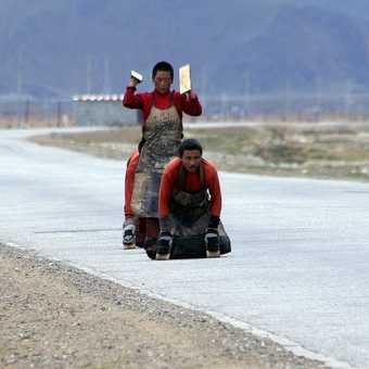 Tibet Yamdrok Tso from Kamba La
