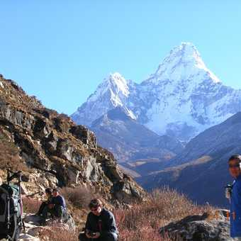 Prem, our tour leader, with Ama Dablam in the background