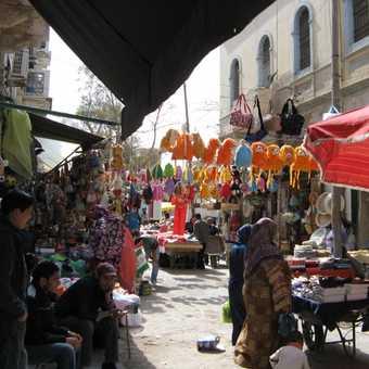 Tripoli, a street market near the Medina