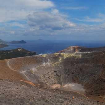 Looking across Vulcano's crater