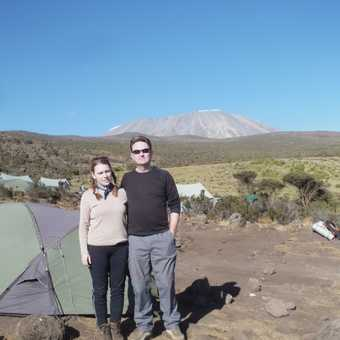 Mess tent with Kili view
