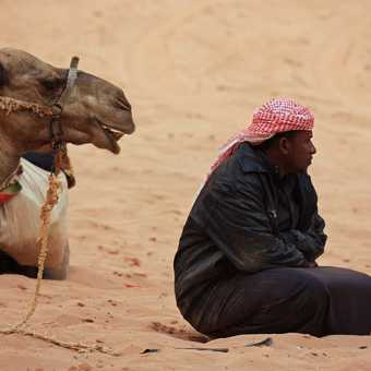 Bedouin at Wadi Rum campsite (2)