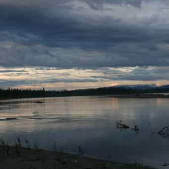 Night time in the Yukon summer