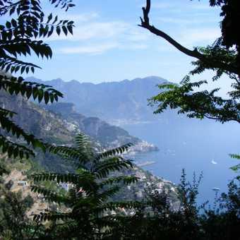 view towards Amalfi