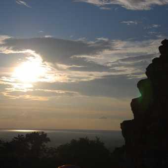Temple Sunset Silhouette 2
