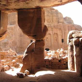 View of The Soldier's Tomb, Petra
