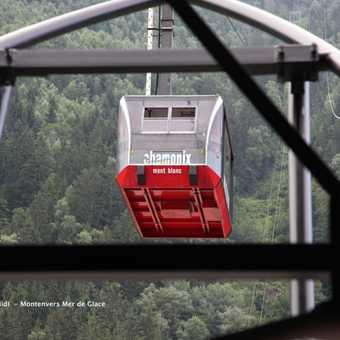 The cable car to Aiguille du Midi