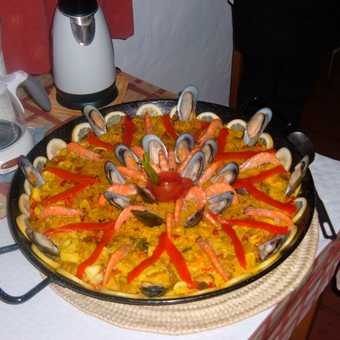 Paella on our last night